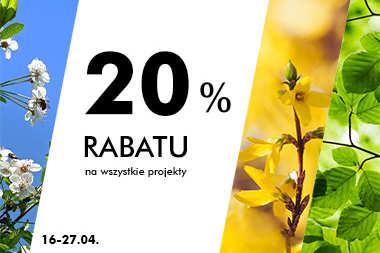 20% RABATU na wszystkie projekty!
