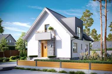 5 świetnych projektów domów na wąską działkę