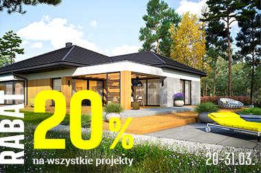 20% RABATU na każdy projekt domu - skorzystaj z promocji!