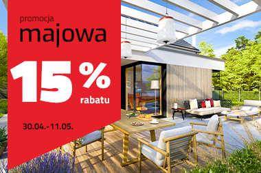 Majowa promocja: 15% RABATU na wszystkie projekty domów