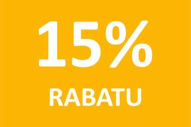 15% RABATU na wszystkie projekty domów!