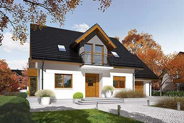 Prosty i tani sposób na piękną elewację – 5 projektów domów z tynkiem dekoracyjnym