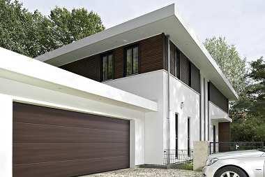 Duragrain - nowe wzory powierzchni bram garażowych.   Hörmann oferuje więcej możliwości aranżacji otoczenia domu