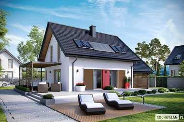 TOP 7 – najciekawsze projekty domów z wiatą garażową