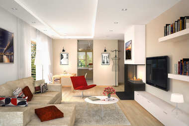 WNĘTRZA INSPIRACJE - projekt domu Iwo G1 - przytulnie, pięknie i w blasku kominka!