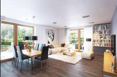 WNĘTRZA-INSPIRACJE - projekt domu Kornel VI (z wiatą) ENERGO - przestronnie, przytulnie, pięknie!