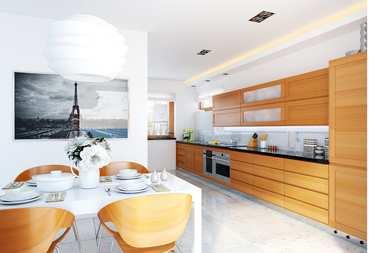 WNĘTRZA INSPIRACJE – projekt domu E11 ECONOMIC - jasno, czysto, radośnie!