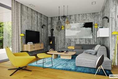 WNĘTRZA-INPIRACJE - dom EX 17 W2 ENERGO PLUS – modnie, przestronnie i z klasą