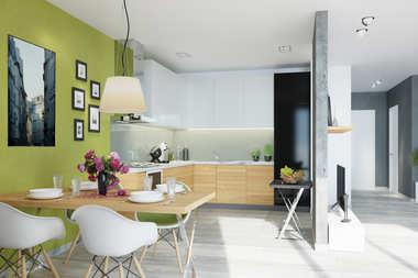 WNĘTRZA-INSPIRACJE – projekt domu Sambor G2 (dwulokalowy) – stylowo, lekko, nowocześnie