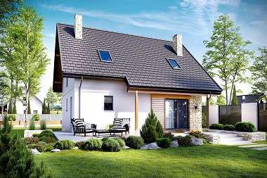 Projekty małych domów z poddaszem bez garażu