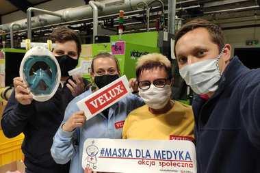 VELUX wspiera akcję społeczną #MaskaDlaMedyka