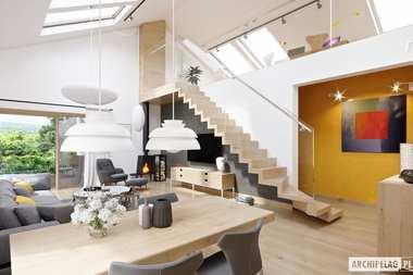 WNĘTRZA-INSPIRACJE –  Daniel IV G2 - piękny dom z antresolą