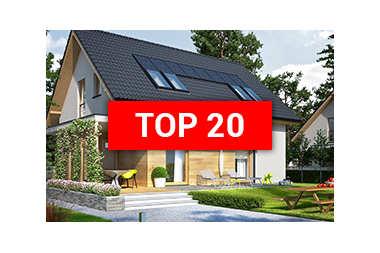 TOP 20 – najlepsze domy z dachem dwuspadowym