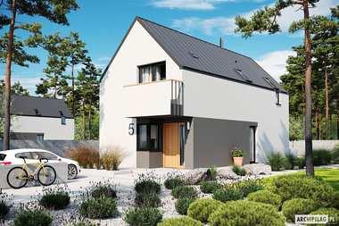 Projekt nowoczesnego domu na wąską działkę
