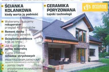 """Nowy numer miesięcznika """"Budujemy dom"""" z naszymi projektami i poradami!"""