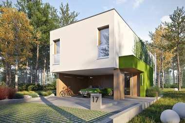 Najlepsze projekty domów z wiatą – 7 gotowych propozycji