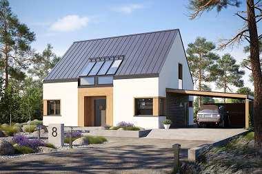 Domy z dachem bez okapu – 7 gotowych projektów
