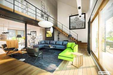 WNĘTRZA-INSPIRACJE - dom EX 18 G2 ENERGO PLUS - tu rządzi biel i drewno!