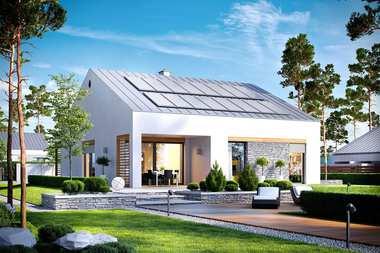 3 małe (do 100 m2) gotowe projekty domów energooszczędnych ENERGO PLUS