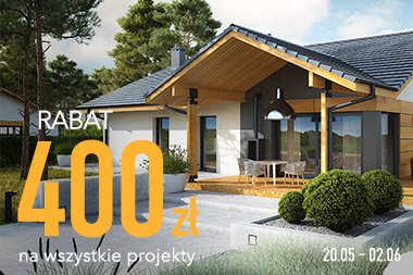 400 zł RABATU na wszystkie projekty domów!