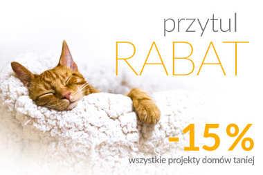 RABAT 15% na wszystkie projekty domów - skorzystaj z promocji