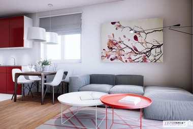 WNĘTRZA-INSPIRACJE – projekt Mini 3 – dom w cenie mieszkania