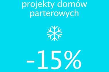 Projekty domów parterowych 15% TANIEJ - skorzystaj z promocji