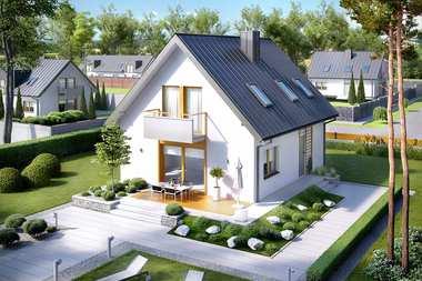 5 małych domów z dodatkowym pokojem na parterze