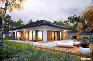 Piękny projekt domu z czterema sypialniami – Tanita III G2
