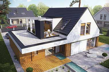 TOP 6 projektów domów z atrakcyjną pergolą