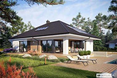 Projekty domów z poddaszem do późniejszej adaptacji i garażem dwustanowiskowym