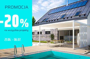 20% RABATU na wszystkie projekty domów