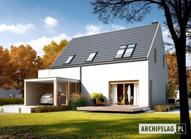 Projekt domu Oskar (z wiatą) ENERGO PLUS