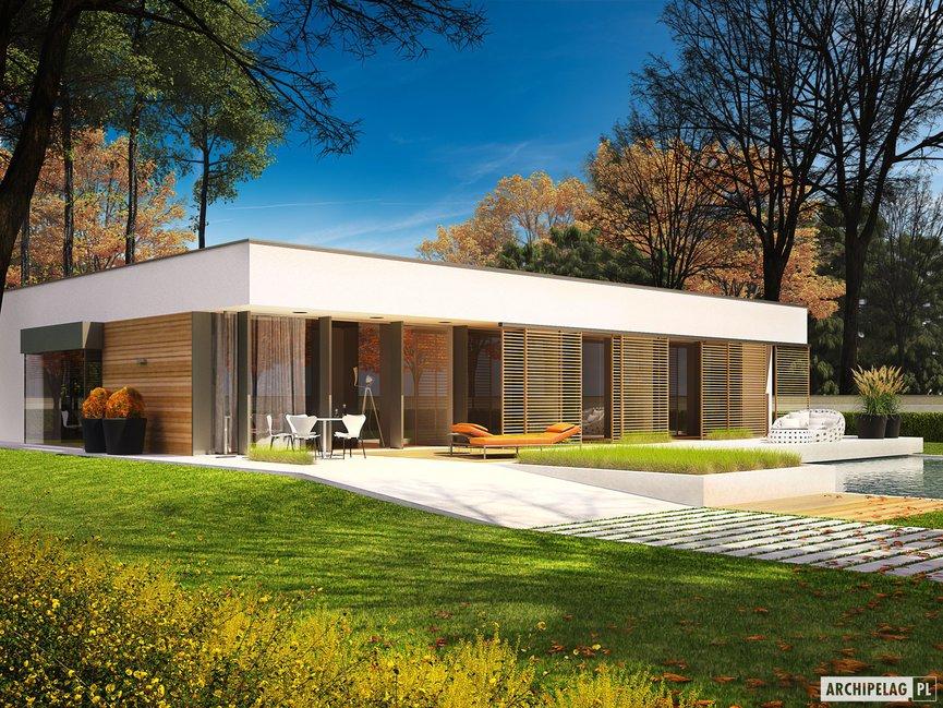 Wizualizacja projektu domu EX 7 (z wiatą) ENERGO PLUS