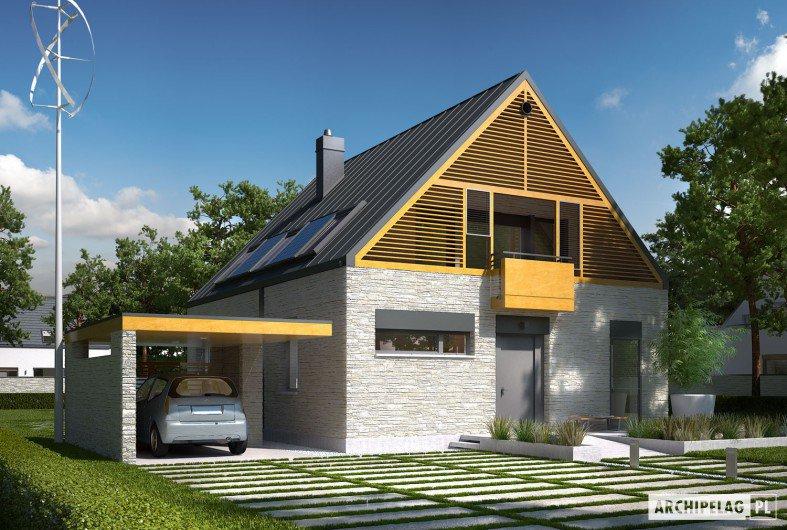 Najciekawsze projekty z wiatą garażową