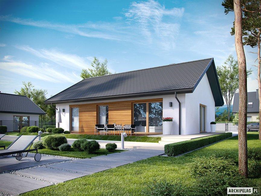 Wizualizacja projektu domu Kornel V ENERGO