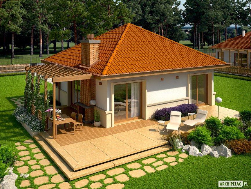 Wizualizacja projektu domu Tosia ENERGO