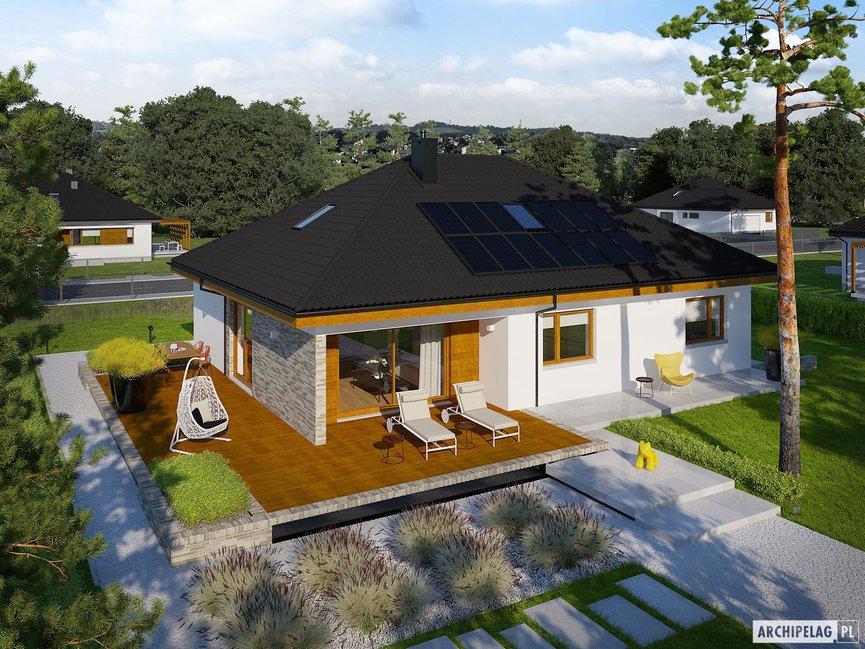 Wizualizacja projektu domu Astrid (mała) II G2 ENERGO PLUS