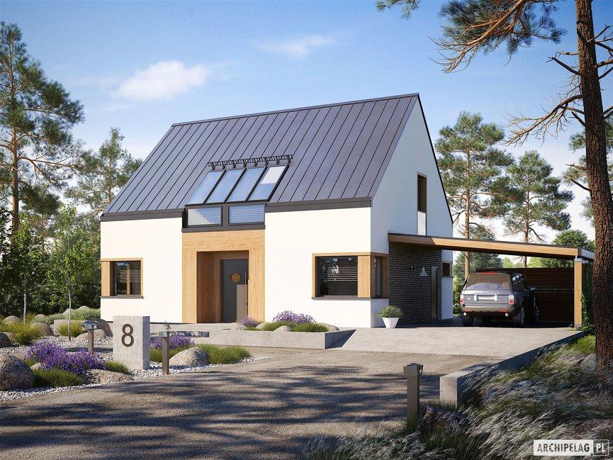 Wizualizacja projektu domu Neli W2 ENERGO PLUS