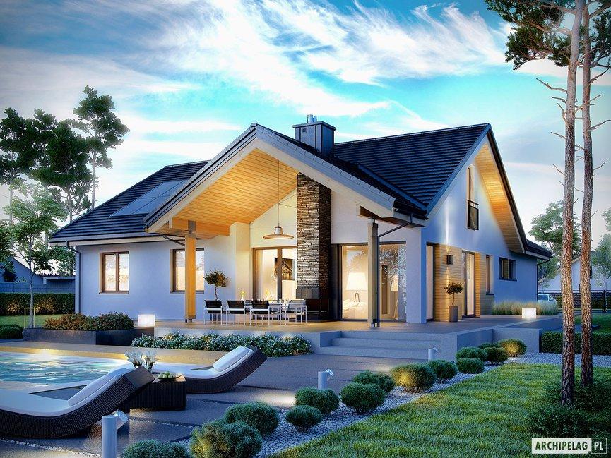 Wizualizacja projektu domu Simon G2