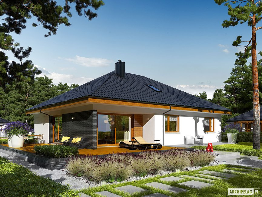 Wizualizacja projektu domu Astrid (mała) II G2