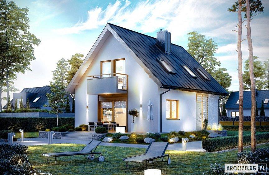 Projekt domu na wąską działkę - Andreas