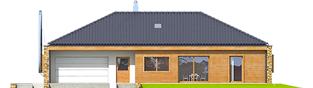 Projekt domu EX 8 G2 (wersja B) soft - elewacja frontowa