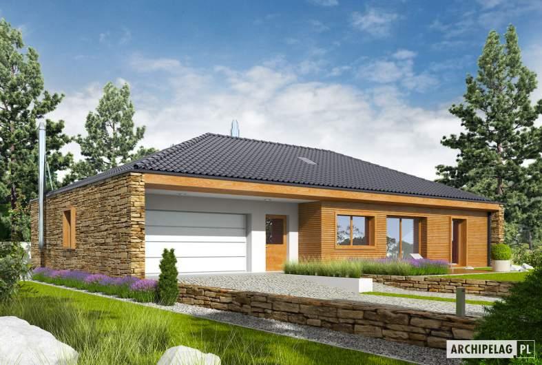 Projekt domu EX 8 G2 (wersja B) soft - wizualizacja frontowa
