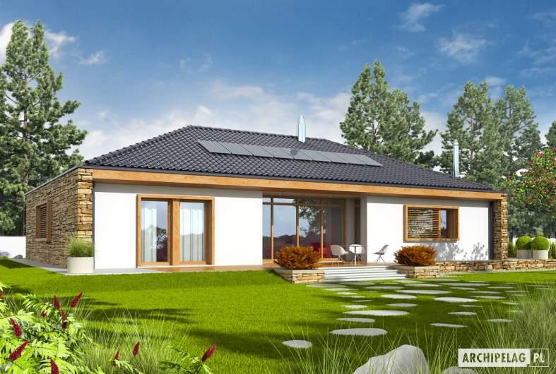 Projekt domu EX 8 G2 (wersja B) soft - wizualizacja ogrodowa