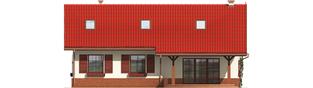 Projekt domu Rózia G1 - elewacja tylna
