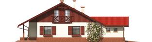 Projekt domu Rózia G1 - elewacja lewa