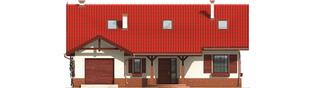 Projekt domu Rózia G1 - elewacja frontowa