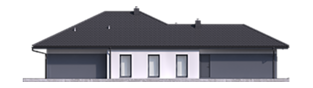 Projekt domu Tanita III G2 - elewacja lewa