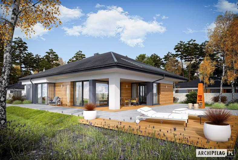 Projekt domu Tanita III G2 - wizualizacja ogrodowa